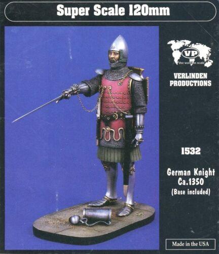 Verlinden 120mm 1:16 German Knight Ca.1350 Base Included Resin Figure Kit #1532