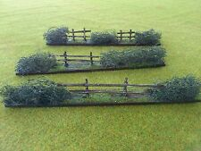 wargame terrain/scenery  20/28mm  five pieces of hedge fence sections + A5 box