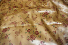 Satin Brocade Apparel Fabric Chinese Style Butterfly Mum  BFab