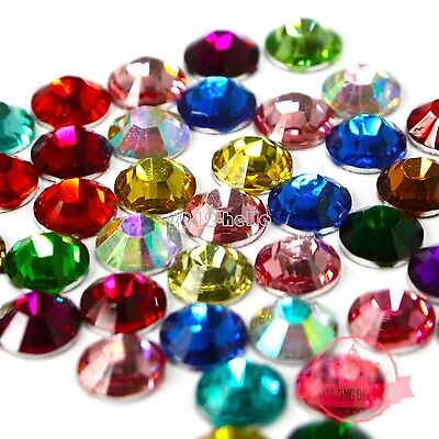 2000pcs sparkling Resin Rhinestone Flatback Crystal 2mm 14 Facets Gems beads