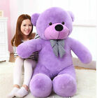 GIANT 80CM(Purple) BIG CUTE PLUSH TEDDY BEAR HUGE SOFT 100% PP COTTON TOY