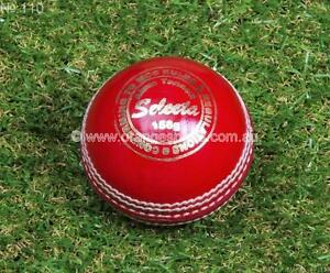 12-x-RED-Selecta-4pc-156g-ALUM-TANNED-Cricket-Balls-by-ORANGE-SPORTS