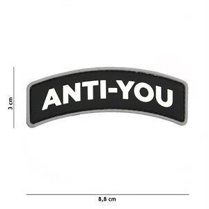 Anti-you Noir #9040 Patch Velcro Airsoft Paintball Tactical-afficher Le Titre D'origine