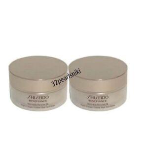 Lot-Of-TWO-Shiseido-Benefiance-Wrinkle-Resist-24-Night-Cream-18ml-FRESH-No-Box