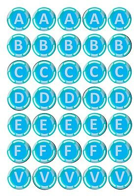 A B C V Bucks Personalised Letter STICKERS Fort Party Bags Nite Chocolate Coins