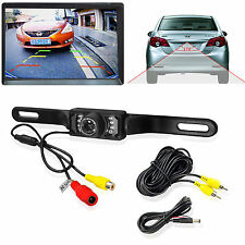 CMOS Car Rear View Reverse Backup Camera Parking Night Vision Waterproof 7 LED F