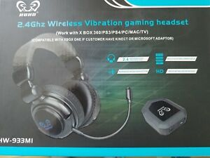 Details about HUHD 2 4Ghz Optical Wireless Stereo Vibration Gaming Headset  HW-933MI