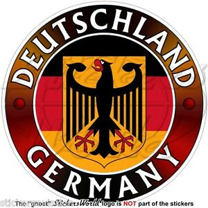 GERMANY DEUTSCHLAND Flag-Coat of Arms German Eagle, Deutsch 100mm ...