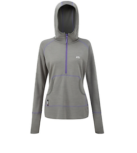 Mountain Equipment Calico Women's Hooded Zip T, Grey, Large