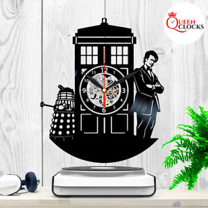 Image Is Loading Doctor Who Tardis Vinyl Record Wall Clock Home