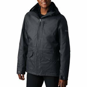 NWT Columbia Women/'s Mount Erie Interchange Hooded Jacket Black MSRP $240