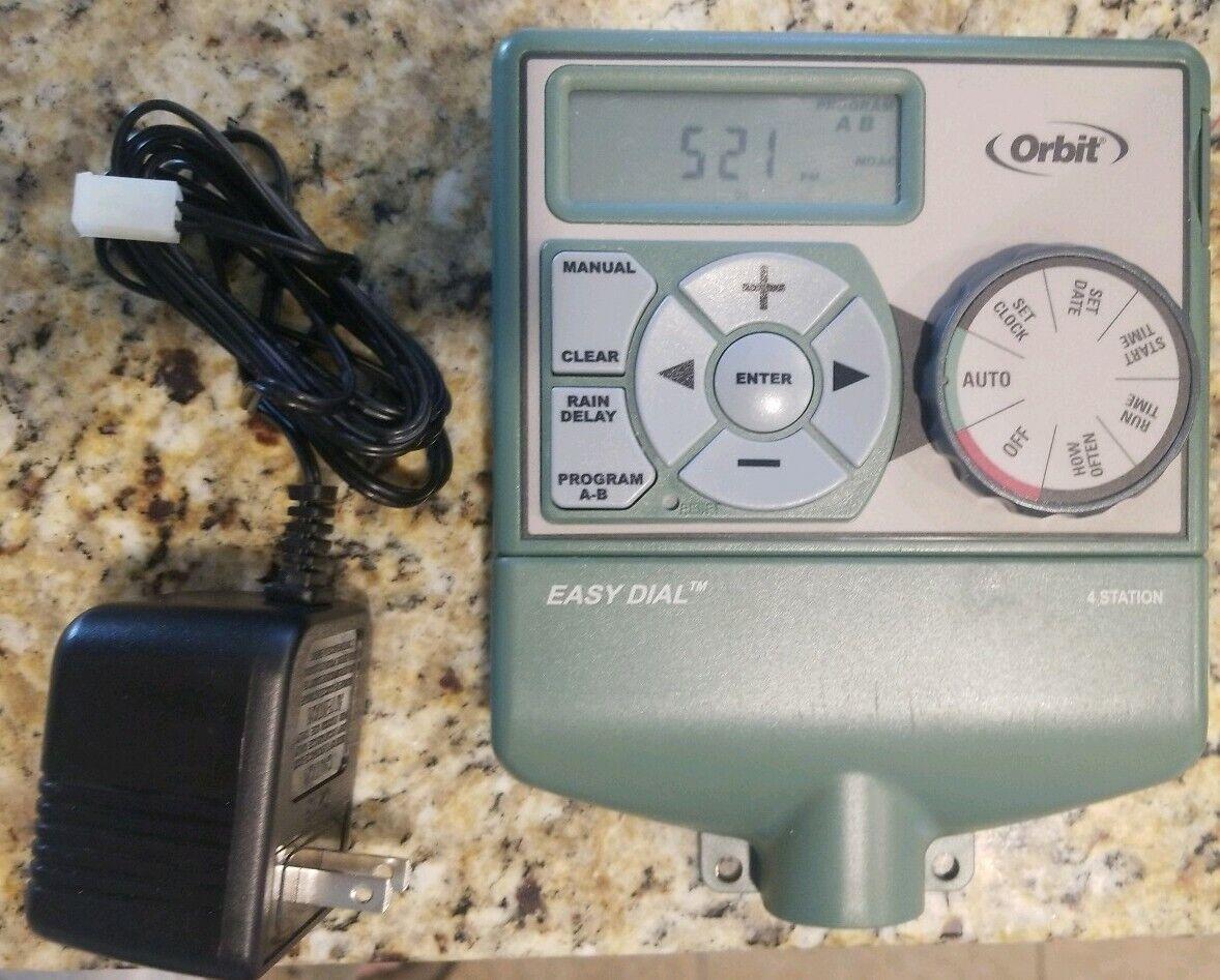 Orbit 4 Station Indoor Easy Dial Sprinkler Timer 57874 Working with Transformer