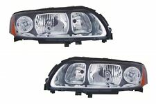 Volvo S60 Saloon 5/2005-9/2010 Headlights Lamp Black Surround 1 Pair O/S & N/S