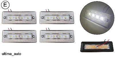 4x 24v 12v LED White side front marker lights lamps trailer truck lorry E-marked