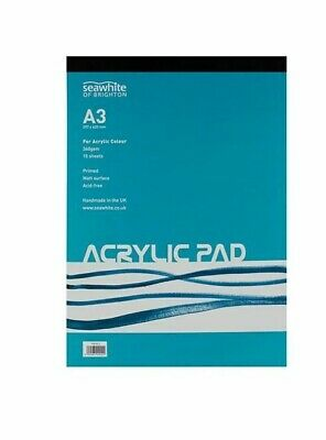 A4 Acrylic Painting Pad 15 sheets of 360gsm paper designed for acrylic paints