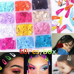 50pcs-Box-Cute-Candy-Hair-Clip-Hairpin-Barrette-Kids-Girls-Hair-Accessories