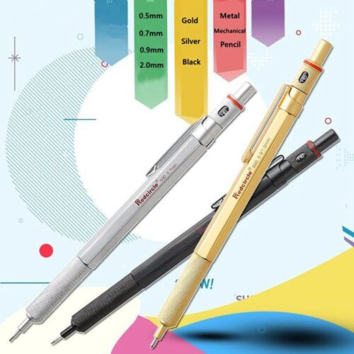 1pc 2.0mm 0.9//1.0mm 0.7mm 0.5mm Drafting Metal Mechanical Pencil For Drawing