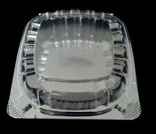 """Dart 6"""" Clear Hinged Plastic Food Take Out To-Go / Clamshell Container 50 Pack"""
