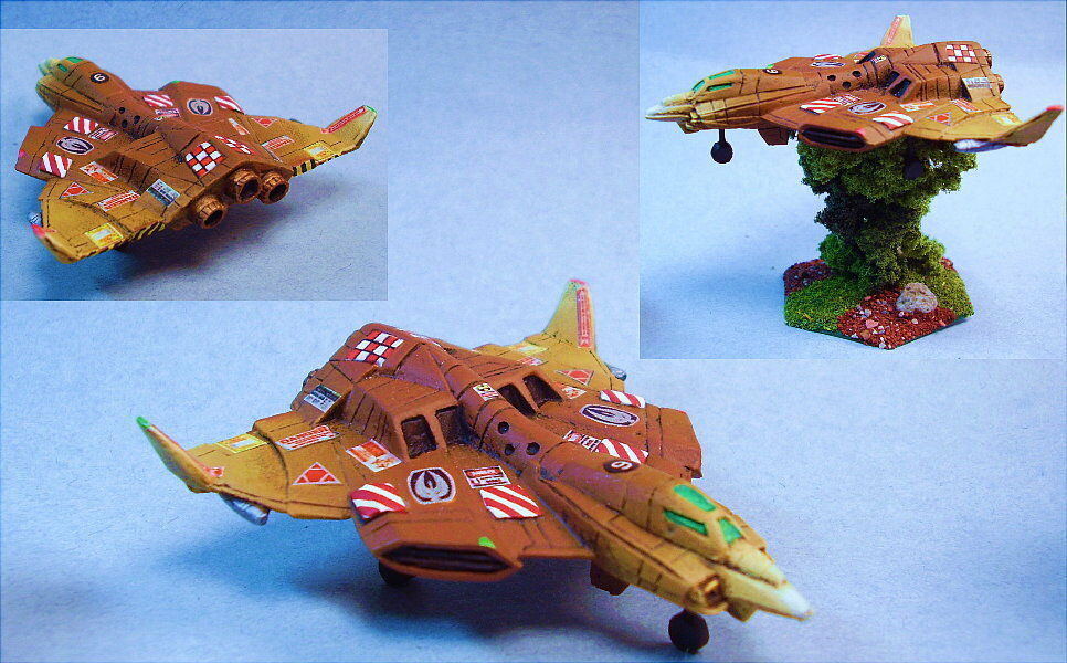 Battletech Pintado eisensturm aeroespacial Fighter (Mech Escala) Wg