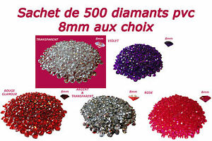 500-DIAMANTS-PVC-8mm-2CT-DECORATION-DE-TABLE-mariage-fiancailles-bapteme