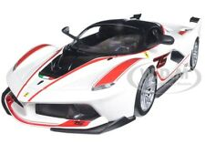 FERRARI RACING FXX-K #75 WHITE 1/24 DIECAST MODEL CAR BY BBURAGO 26301
