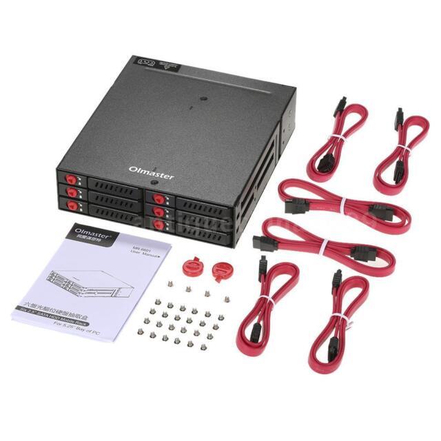 6 Bays Mobile Backplane Hot-swap Transmission 2.5/'/' SATA HDD SSD Hard Drive M1D2