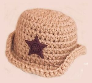 COWBOY-BABY-FEDORA-CAP-HAT-PHOTOGRAPHY-PHOTO-PROP-OUTFIT-brown-peaked-sun-hat