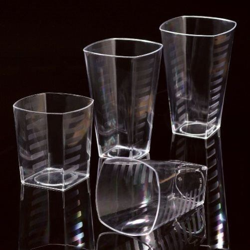 Disposable Plastic Square Shot Glasses   Tumblers   Wine Glass   Beer Cups HDuty