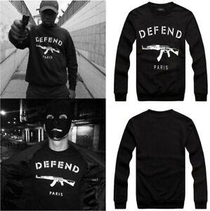 Details zu Herren Damen DEFEND Paris Hoodie AK47 3D Print Sweatshirt Kapuzen Pullover Pulli