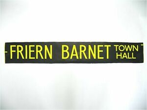 Friern-Barnet-Town-Hall-bus-blind-vintage-screen-printed-London-destination