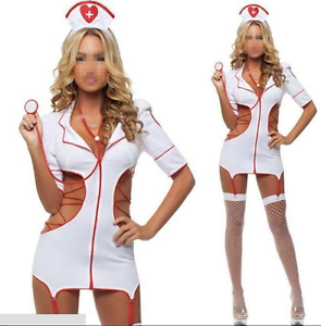 Womens sexy ladies naughty nurse lingerie costume hen party fancy image is loading women 039 s sexy ladies naughty nurse lingerie solutioingenieria Gallery