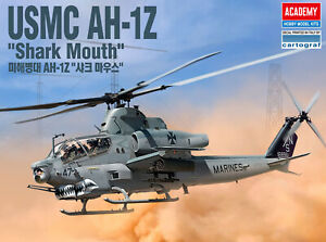 ACADEMY-1-35-Scale-USMC-AH-1Z-Shark-Mouth-12127-Helicopter-HOBBY-MODEL-Kits