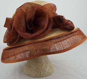 A Hat Studio Design - Wedding Hat - Cream & Brown