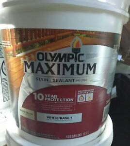 Image Is Loading New Olympic Maximum 5 Gal White Base 1