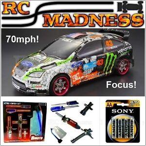 Nitro Rc Car Rally Drift Radio Télécommande Essence Rapide 70 mph sur la route Uk!