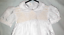 Christening-or-Baptism-dress-Satin-with-smocked-bodice miniature 2