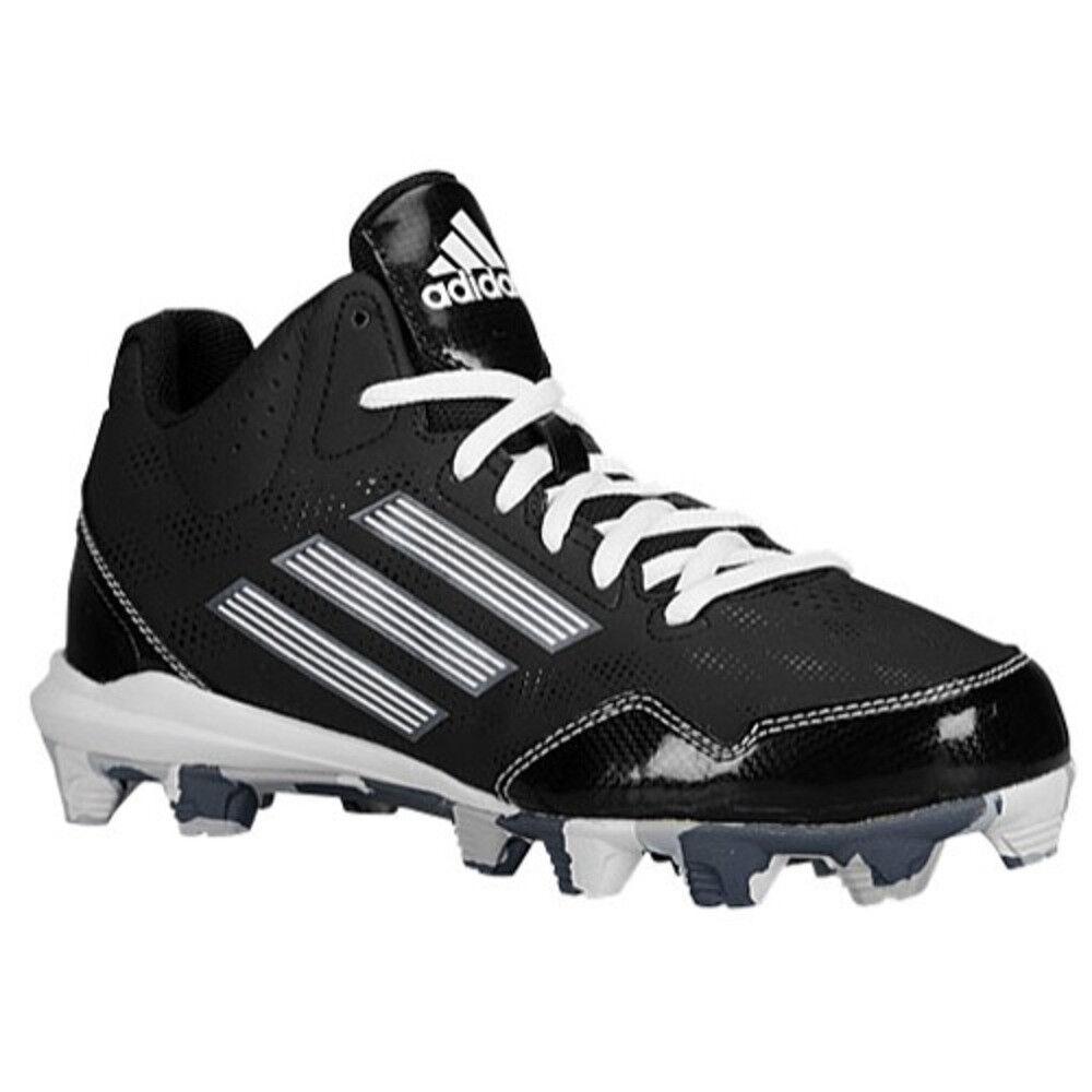Nuovo Adidas Passaruota 2 Mid Baseball Tacchetti Nero Bianco Mimetico -