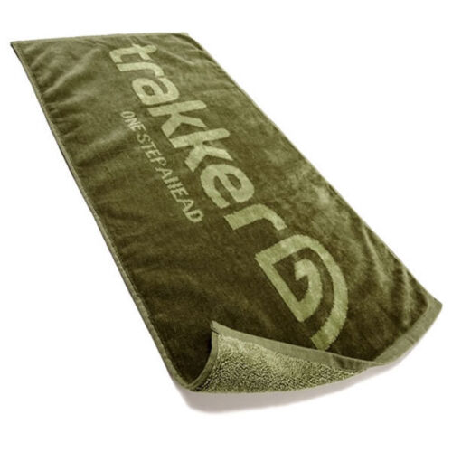 TRAKKER GREEN COTTON HAND TOWEL SOFT /& DURABLE CARP FISHING ACCESSORY 40 X 70CM