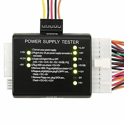 Computer PC Netzteil-Tester Checker 20/24 Pin 4 SATA HDD Meter Tester