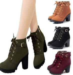 Women-Spring-Autumn-Ankle-Boots-Chunky-High-Heels-Snow-Leather-Boots-Winter-Boot