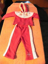 BROADWAY KIDS CHRISTMAS WINTER SWEATSUIT TRACKSUIT SNOWFLAKES GIRLS SZ 12 MONTHS