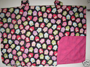 NEW baby INFANT car seat cover shade BLANKET lined canopy OWLS PINK GIRL