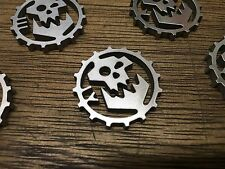 WarHammer Objective Markers - Ork Cog - Stainless Steel - 30mm