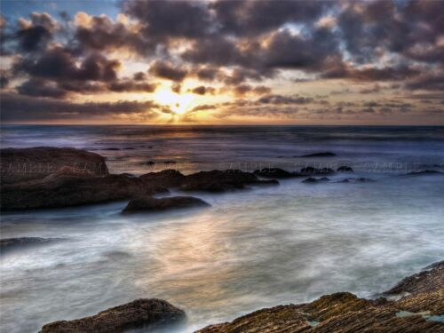 NATURE LANDSCAPE SEA BLUFF TRAIL CALIFORNIA SUN POSTER ART PRINT PICTURE BB1480A