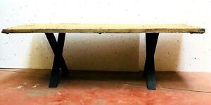 Copieux Table Monastère En Bois Massif Trace De Patine Piétement Postérieur. Xx Siècle. Pour ExpéDition Rapide