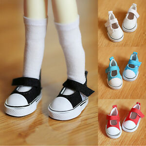 3a3af761cfc3c Details about 5cm Doll Shoes Canvas Mini Toy Shoes1/6 Bjd For Russian Tilda  Doll Sneackers P&T