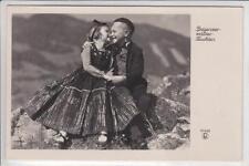 AK Bregenzerwald, Kinder in Tracht, 1952