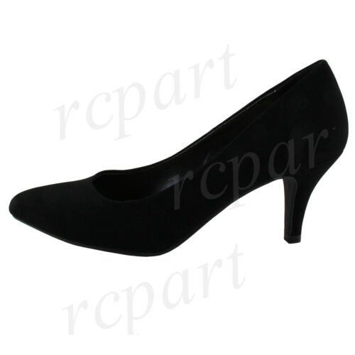 New women/'s shoes elegant pointy toe classic pumps high heel solid casual black