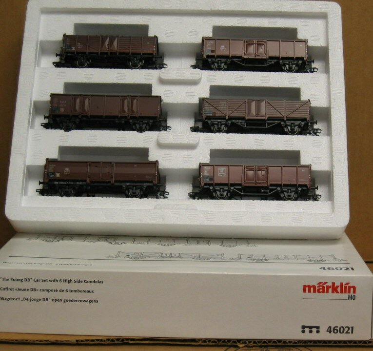 Marklin 46021 HO  The Young DB  car set set set with 6 High Side Gondolas 6f76cd