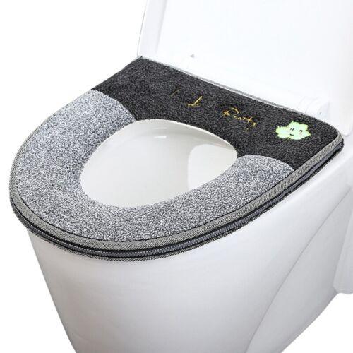 Toilet Seat Cover Reusable Washable Soft Lid Pad Warm Mat Bathroom Decor Pad New